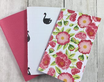 "3""x5"" Notebook, Blank Paper Notebook,  Set of Notebooks, Mini Notebooks, Mini Journal, Journal Set, Notebook Set 3x5120"