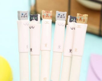 Aihao Cat's Story cute kawaii set of 3 0.38mm refillable gel ink pens