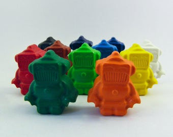 Set of Colorful Robot Crayons