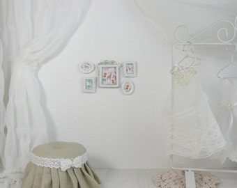 A set of 5 pictures, 1/6 scale, blythe, pullip, barbie, wall paintings, wall decoration, doll house