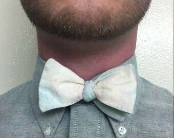 Abstract Water Color Paint Adjustable Bow Tie