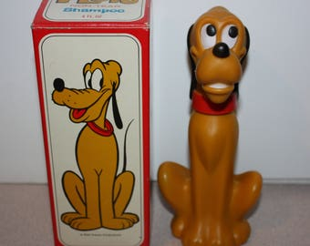 Vintage AVON Walt Disney Pluto Shampoo Bottle Original Box Dog 1970's