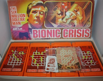 Vintage The Six Million Dollar Man Bionic Crisis Board Game 1975 Complete