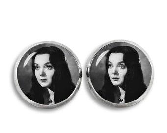 Morticia Addams Stud Earrings Morticia Addams Earrings Addams Family Fandom Jewelry Goth