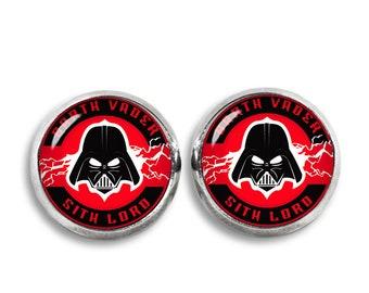 Darth Vader Stud Earrings Star Wars stud earrings Sith Lord Fandom Jewelry Cosplay Fangirl Fanboy