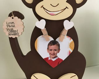 Wooden Cheeky Monkey Photo Holder