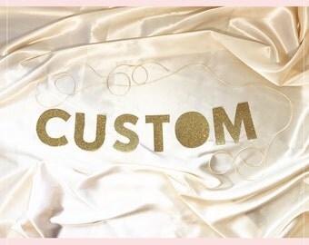 Custom Party Banner | Custom | Gold Glitter Party Banner