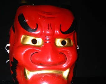 Vintage Halloween/Chinese Devil Mask ****1960's*****  Adult
