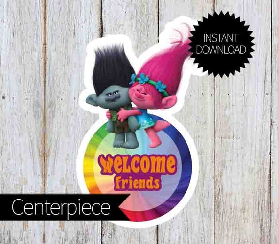Welcome Trolls Personalized Door Banners