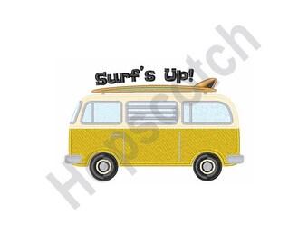 Surfboard Van - Machine Embroidery Design