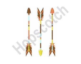 Indian Arrows - Machine Embroidery Design