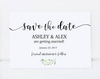 Save the date template etsy save the date template printable save the date save the date instant download pronofoot35fo Images