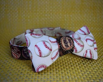 Baseballs and Bottlecaps Bow Tie