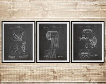 Toilet Art Print, Patent Print Group, Bathroom Art Poster, Patent Print Set, Bathroom Sign, Toilet Paper Poster, Toilet, INSTANT DOWNLOAD
