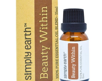 Beauty Within Essential Oil Blend by Simply Earth - 15ml, 100% Pure Therapeutic Grade