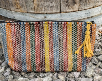 Handwoven, Zapotec, Wool, Tribal Print, Clutch Purse