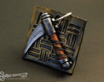 Kama: Polymer Clay Armory Pendant