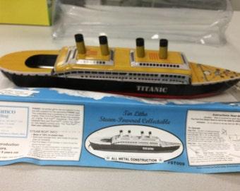 Vintage, Titanic Tin Litho Ship