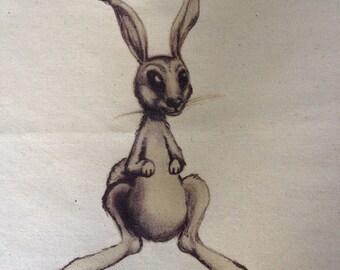 Hare, Eco shopping bag, shopping tote, tote bag,  shopping bag, Calico bag