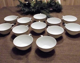 Vintage Royalton China Co. Translucent Porcelain *-* GOLDEN ELEGANCE *-* Cups, Set of 4, 8 or 12