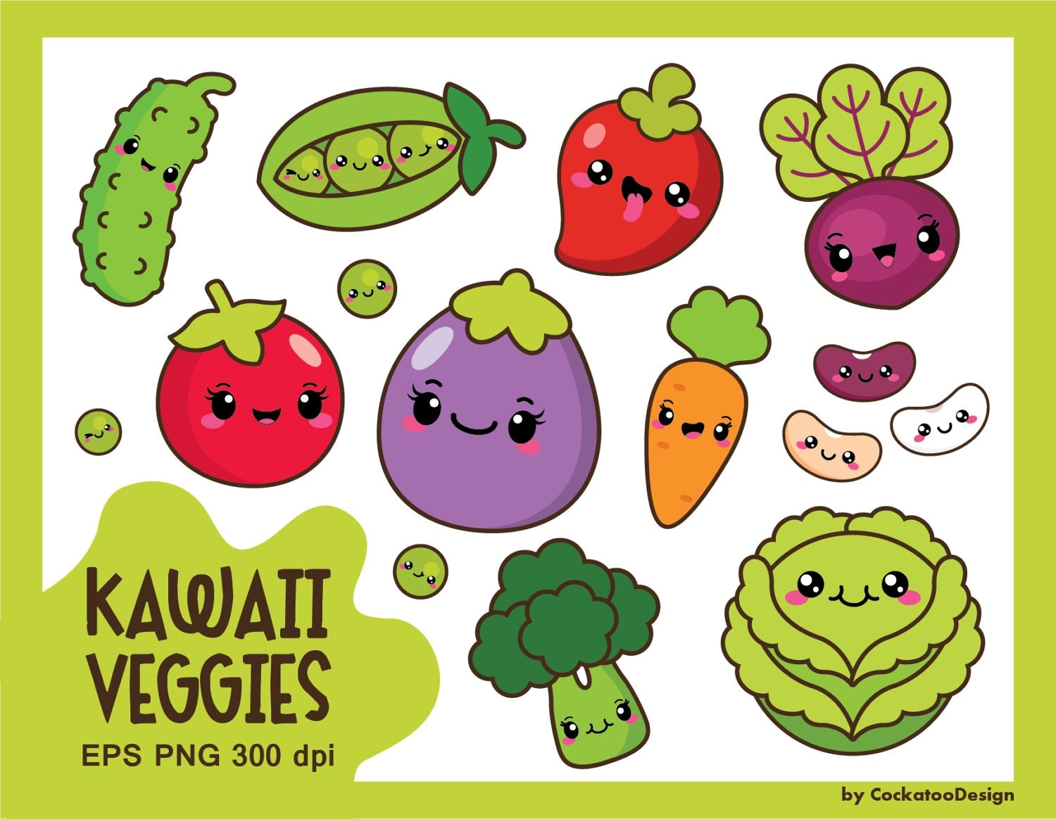 30% OFF Kawaii vegetables clipart kawaii veggies clipart