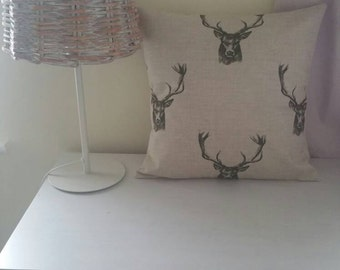 Stag cushion cover. Cushion covers. Country cushion cover. Natural cushion cover