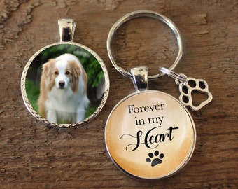 Pet Loss Keychain, Pet Memorial, Key chain, Double Sided Charm, Memory Charm, Pet Remembrance, Pet Chain