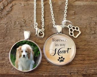 Pet Loss Necklace, Pet Memorial, Pet Loss Pendant, Necklace, Double Sided Charm, Memory Charm, Remembrance, Pet Remembrance, Pet Charm