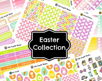 Easter collection - Single sheets and kit of planner stickers