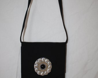 Evening bag with Swarovski - stones