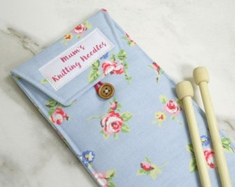 Personalised Knitting Needle Case - case for knitting needles - mother's day gift - grandmother's gift - personalized knitting needle case