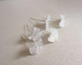 Forks in hydrangea flower