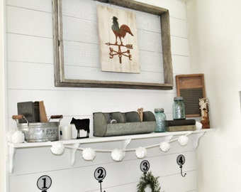 Rooster Weathervane Sign, Farmhouse, Fixer Upper Style