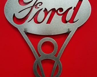 Ford V8 Metal Art