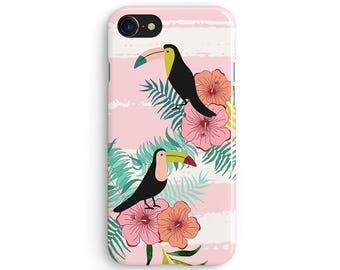 Pastel summer tucan - iPhone 7 case, Samsung Galaxy S7 case, iPhone 6, iPhone 7 plus, iPhone SE, iPhone 5S, 1C052A