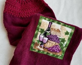 Wine Dish Towel Topper
