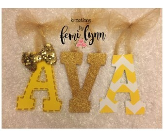 Yellow and Gold Letters