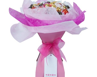 Pink Rose - Chocolate Bouquet - Large
