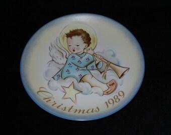 "1989 Schmid Christmas ""Angelic Musician"" Christmas Plate Inspired by Berta Hummel"