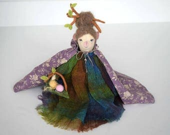 Mrs Yarn elf, Doll, Gift for girl, Doll for sale