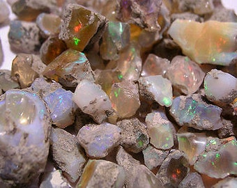 Opal crystal precious fire all natural Welo 15 carat lots 1-3 pieces