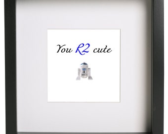 You R2 hot/cute/lovely 3D lego frame Star Wars Love Valentines gift present