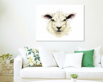A3 Sheep Print Sheep Print Farm Animal Prints Farm House