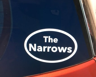 The Narrows (Zion National Park hike) vinyl car window decal / sticker