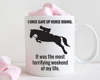 Funny gift for horse rider, horse riding mug (M249)