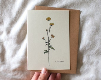 Wildflower Botanical Greeting Card