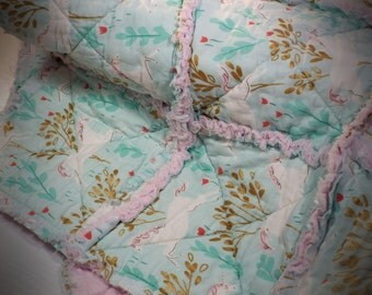 Unique Baby Gift, Lovie, Luvie, Baby Lovies, Unicorn, Rag Quilt, Baby Shower, Baby Girl, Baby Shower Gift, Baby Gift, Homemade Quilts, Gift