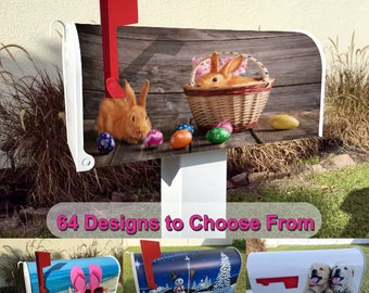 Easter Bunny Magnetic Mailbox Cover