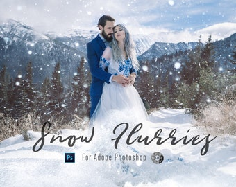 Snow Overlays & Blowing Snow Overlays for Photoshop Professional Photo Editing for Portraits, Newborns, Weddings By LouMarksPhoto