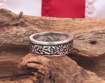 Switzerland 2 Franc Silver Coin Ring/Coin Rings/Coin Jewelry/Switzerland Coin Rings/Wedding Band/Gifts for Her/Handmade
